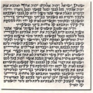 Mezuzah Scroll Parchment