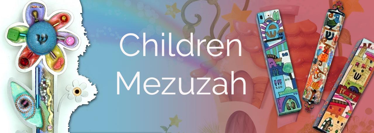 Children's Mezuzah Cases & Scroll